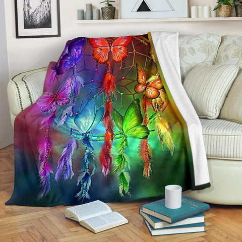Butterfly Dream Catcher Micro Fleece Blanket - Merchandize.ca