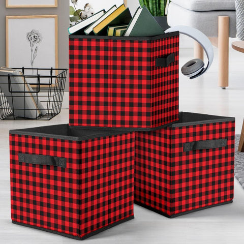 Red Plaid Storage Cube - Merchandize.ca