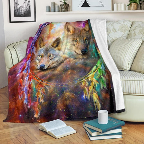 Wolf Dream Catcher Micro Fleece Blanket - Merchandize.ca