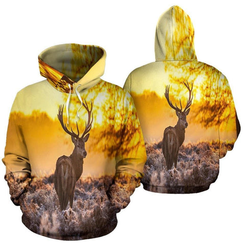 Buck at Sunset AOP Hoodie - Merchandize.ca