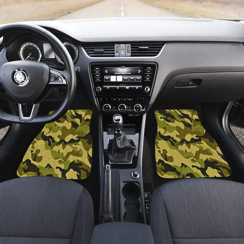 Green Camouflage Front Car Mats (Set Of 2) - Merchandize.ca