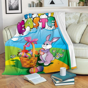 Happy Easter Micro Fleece Blanket - Merchandize.ca