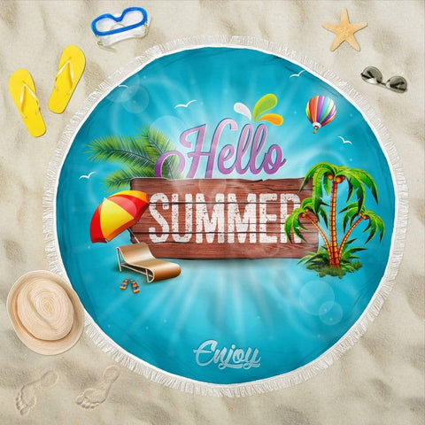 HELLO SUMMER BEACH BLANKET - Merchandize.ca