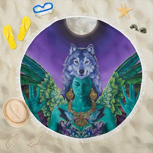 Independent Soul - Round Beach Blanket - Merchandize.ca