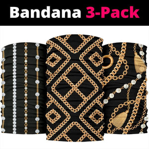 Luxury Golden Chains Bandana 3-Pack - Merchandize.ca