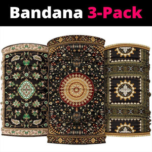 Luxury Oriental Mandala 2 Design on Bandana 3-Pack - Merchandize.ca