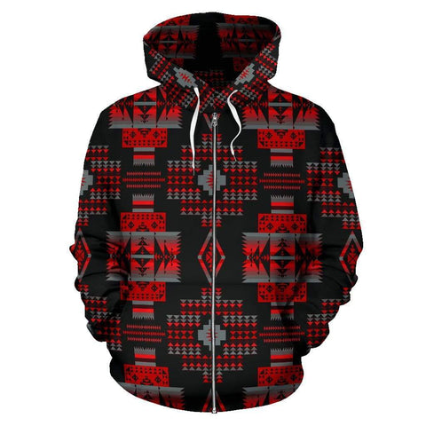 Midnight Red Sokapi Zip-Up Hoodie - Merchandize.ca