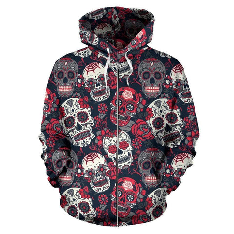 Skull Lovers All Over Hoodie - Merchandize.ca
