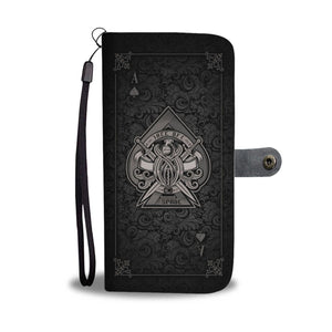 New Custom Designed Aces Wallet Case Black - Merchandize.ca