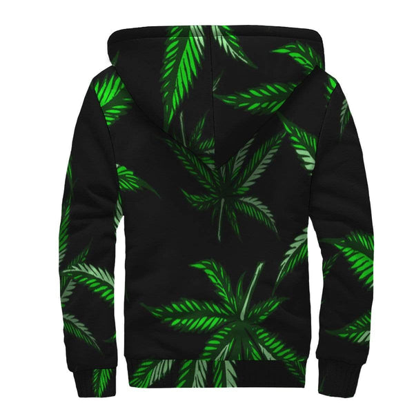 New Custom Designed Cannabis Sherpa Hoodie - Merchandize.ca