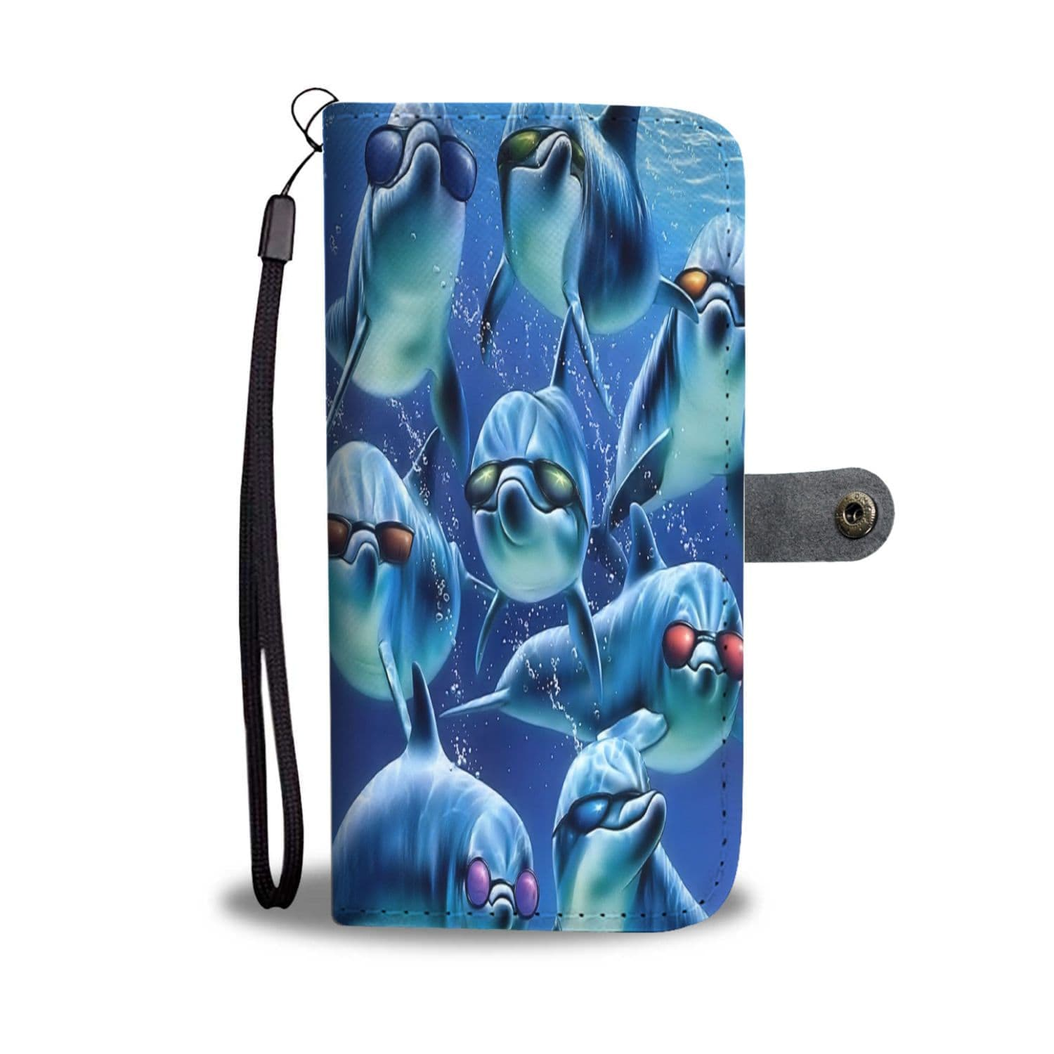 New Custom Designed Cool Dolphin Wallet Case - Merchandize.ca