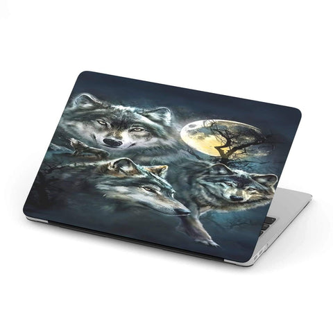 New Custom Designed Full Moon Wolf MacBook Case - Merchandize.ca