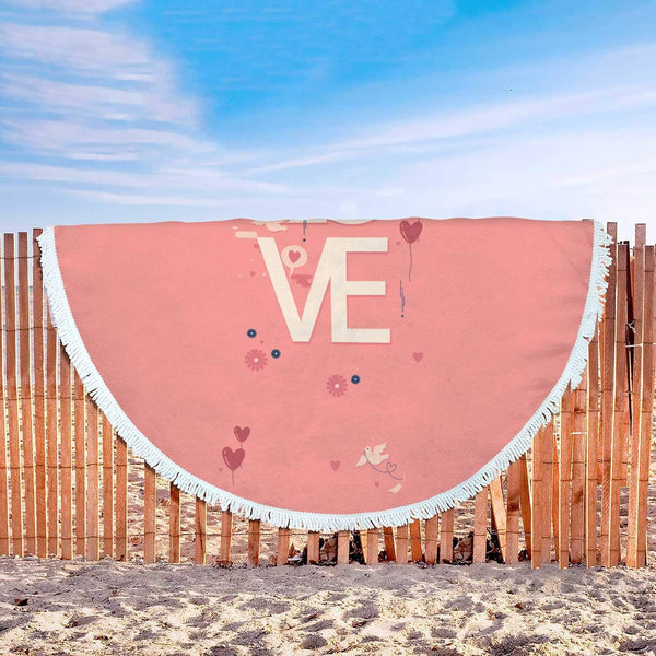 New Custom Designed Love Beach Blanket - Merchandize.ca