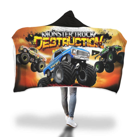 New Custom Designed Monster Truck Hooded Blanket - Merchandize.ca