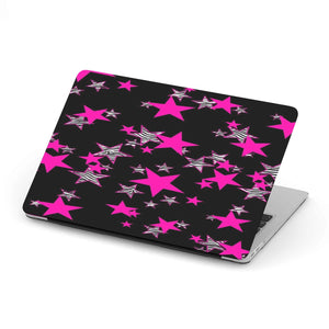 New Custom Designed Pink Stars MacBook Case - Merchandize.ca