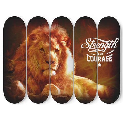 New Custom Designed Skateboard Wall Art Courage - Merchandize.ca
