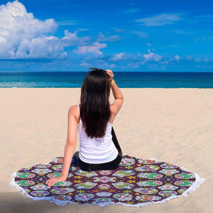 New Custom Designed Sugar Skull Beach Blanket - Merchandize.ca
