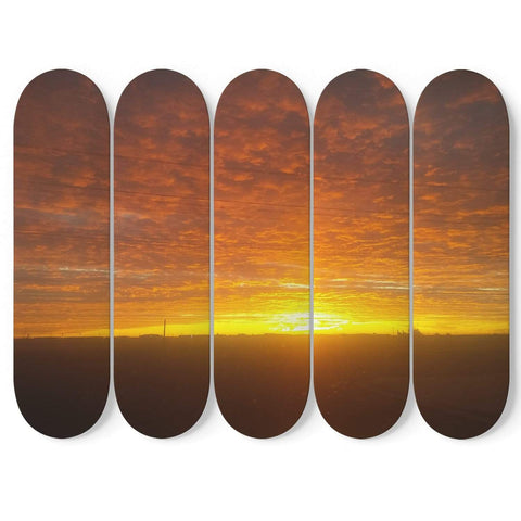 New Custom Designed Sunrise 5 Skateboard Wall Art - Merchandize.ca