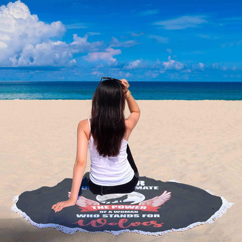 New Custom Designed Wolves Beach Blanket - Merchandize.ca