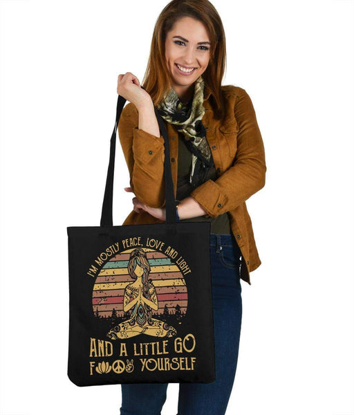 Peace Love and Light Tote Bag - Merchandize.ca