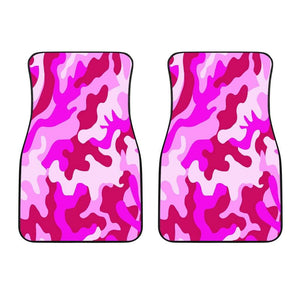 Pink Camouflage Front Car Mats (Set Of 2) - Merchandize.ca