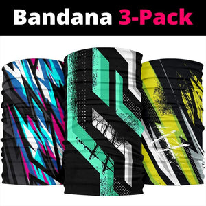 Racing Style Colorful Bandana 3-Pack - Merchandize.ca
