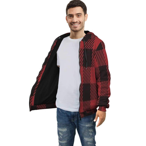 Red Plaid Zip Hoodie - Merchandize.ca