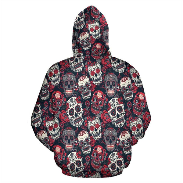 Red & White Skull Hoodies - Merchandize.ca