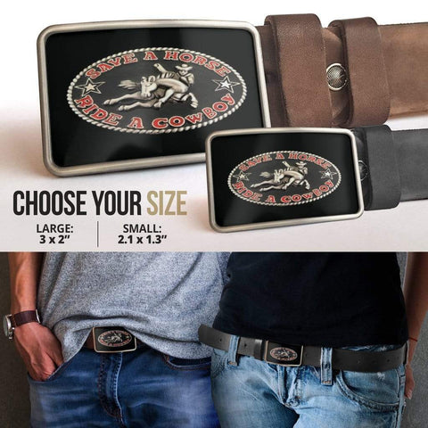 Save A Horse Belt Buckle - Merchandize.ca
