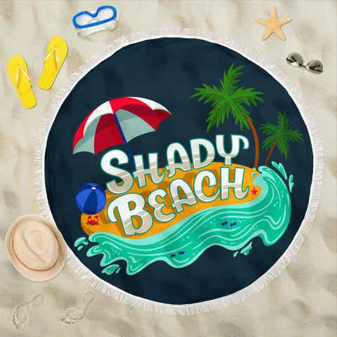 Shady Beach Round Beach Towel - Merchandize.ca
