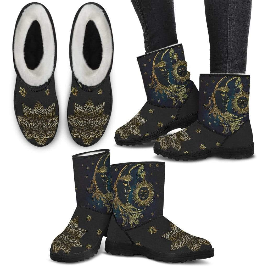 Sun & Moon Spiritual Winter Boots - Merchandize.ca