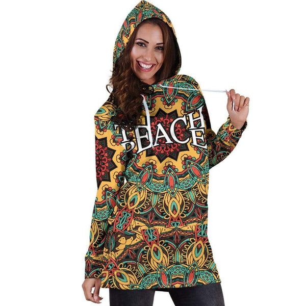 Teach Peace Hoodie Dress - Merchandize.ca