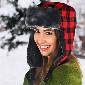 Red Plaid Trapper Hat - Merchandize.ca