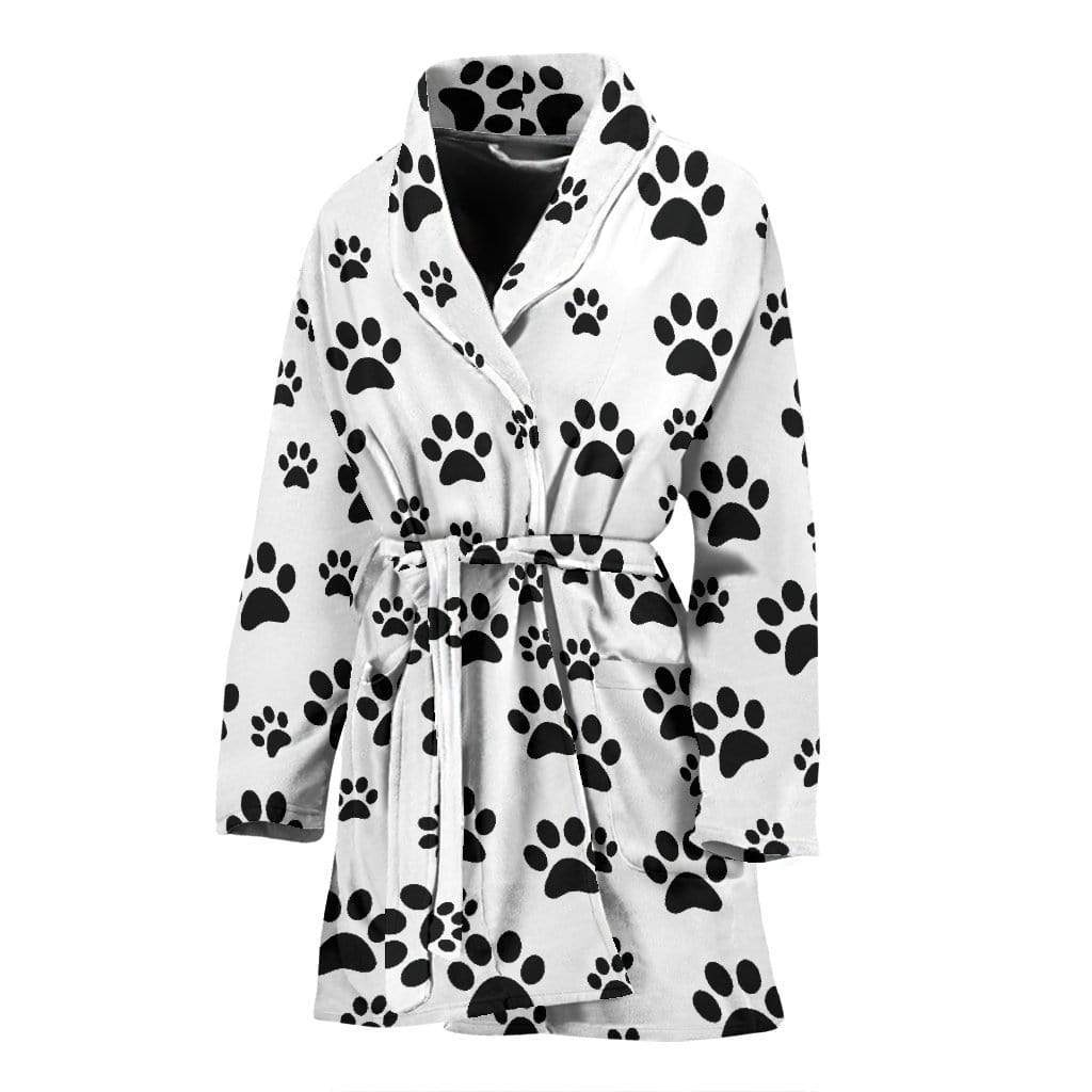 Women's bath robe paw prints - Merchandize.ca