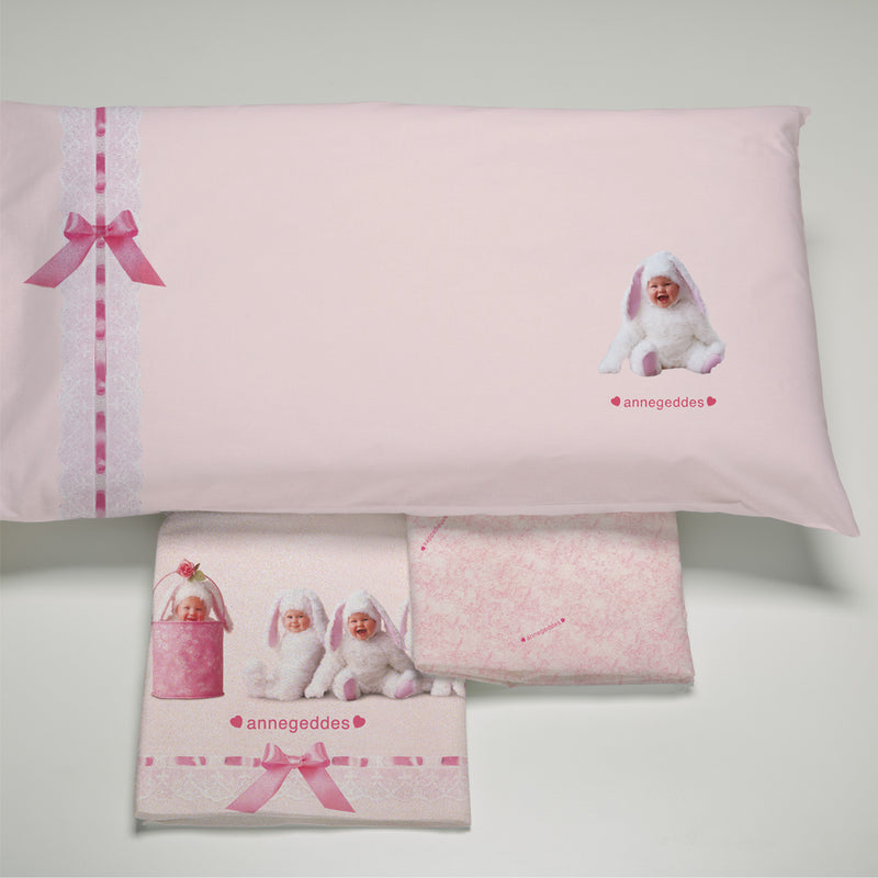 completo letto culla Anne Geddes pink bunnies