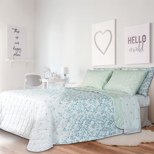 Set letto Santorini di Happidea con copriletto double-face