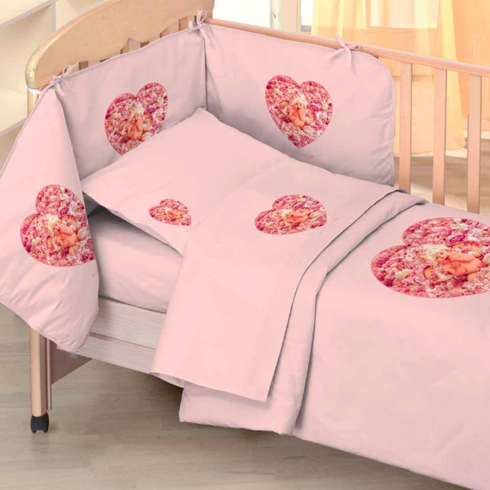 SET 4 PEZZI LETTINO Percalle 200TC - Peony Angel