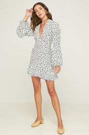 Romeo Mini Dress - Pebbles - Noir