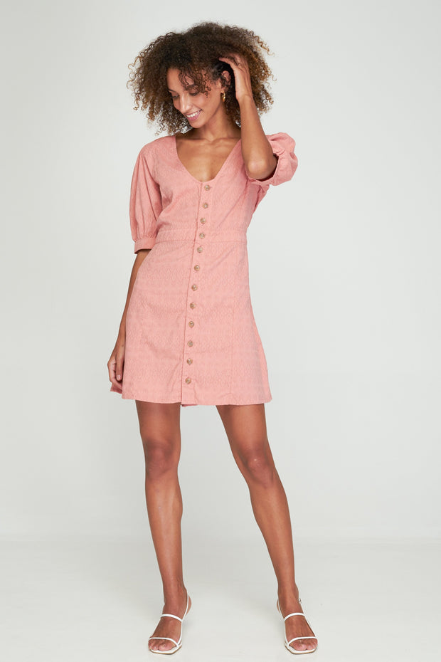 LILLIAN MINI DRESS - ROSEBUD - SAMPLE