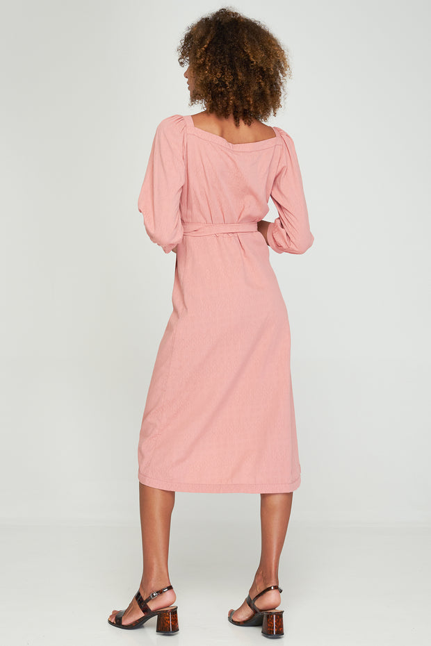 HAZEL WRAP DRESS - ROSEBUD - SAMPLE