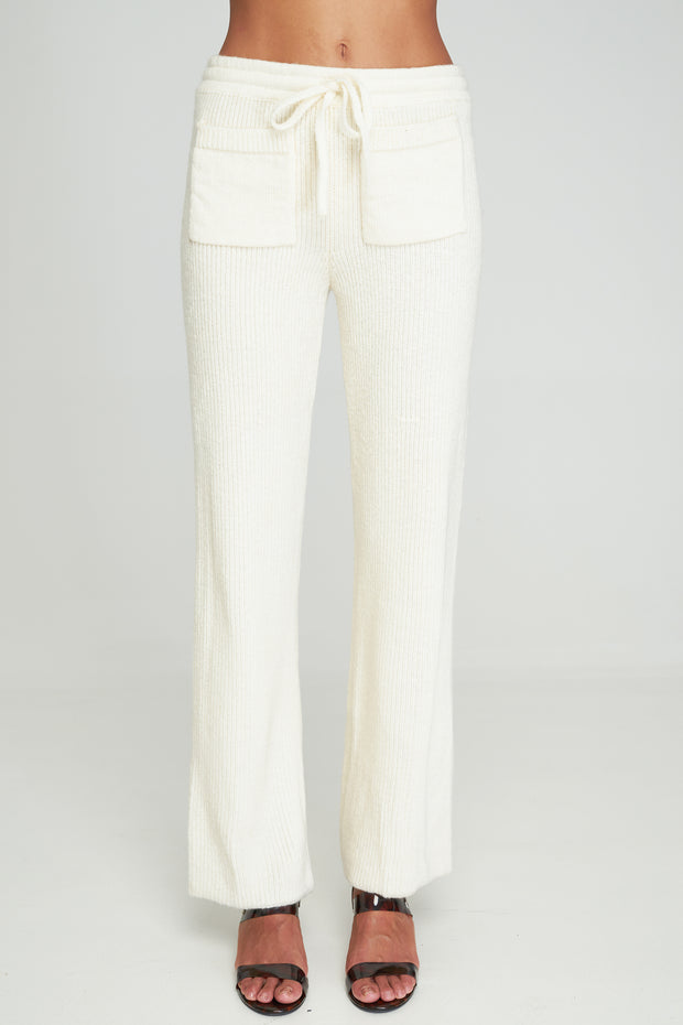 FAYE KNIT PANT - Off White