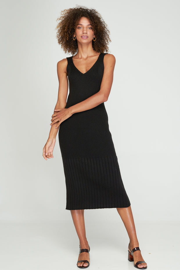 DAYLE KNIT DRESS - Black