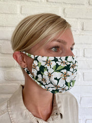 Emerald Posy Viscose Mask Casing