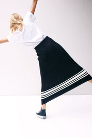 NICO KNIT SKIRT - Black-Off White MIX