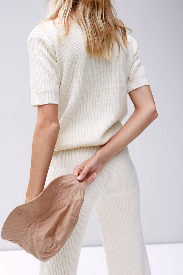 JILLL KNITT TEE - Off White