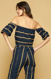 ANITA OFF SHOULDER TOP - BARBARA STRIPE
