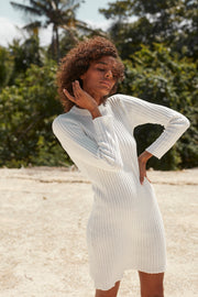 Charli Knit Dress - White