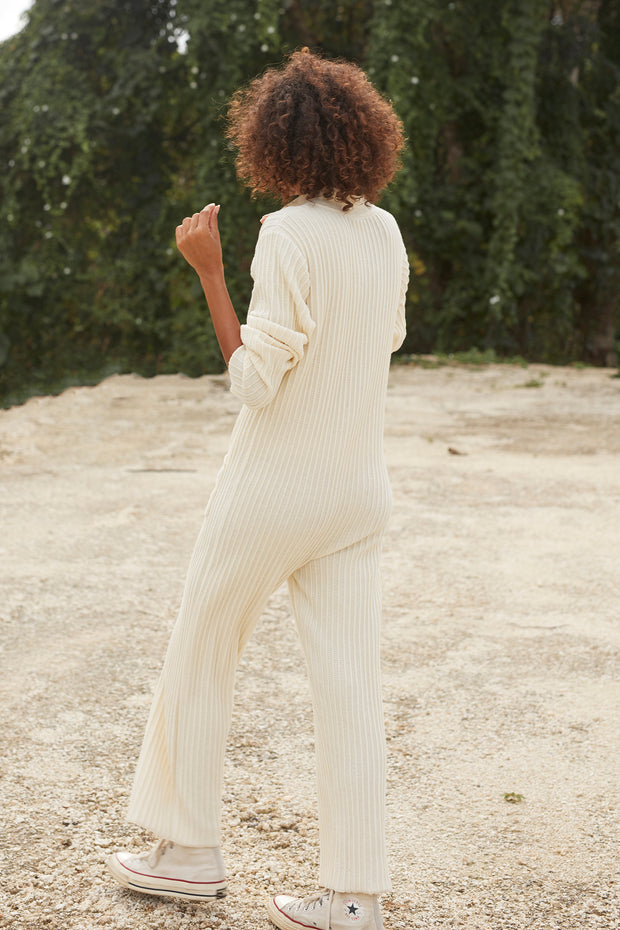 PHOENIX KNIT WORKSUIT - IVORY