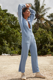 PHOENIX KNIT WORKSUIT - SKY BLUE