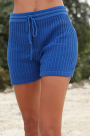 EVY KNIT SHORT - BOYD BLUE